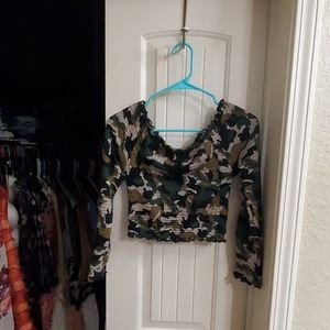 Sexy fitted camo top